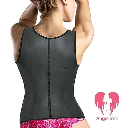 7d11eb3890c Amazon.com  Angel Lines Waist Trainer Corset - Shape Compression Vest for Slim  Body - Black-XL  Beauty