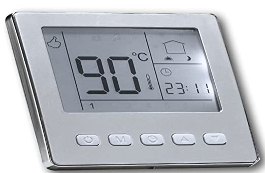 Famous SM-PC®, Raumthermostat Thermostat programmierbar Digital silber RD95