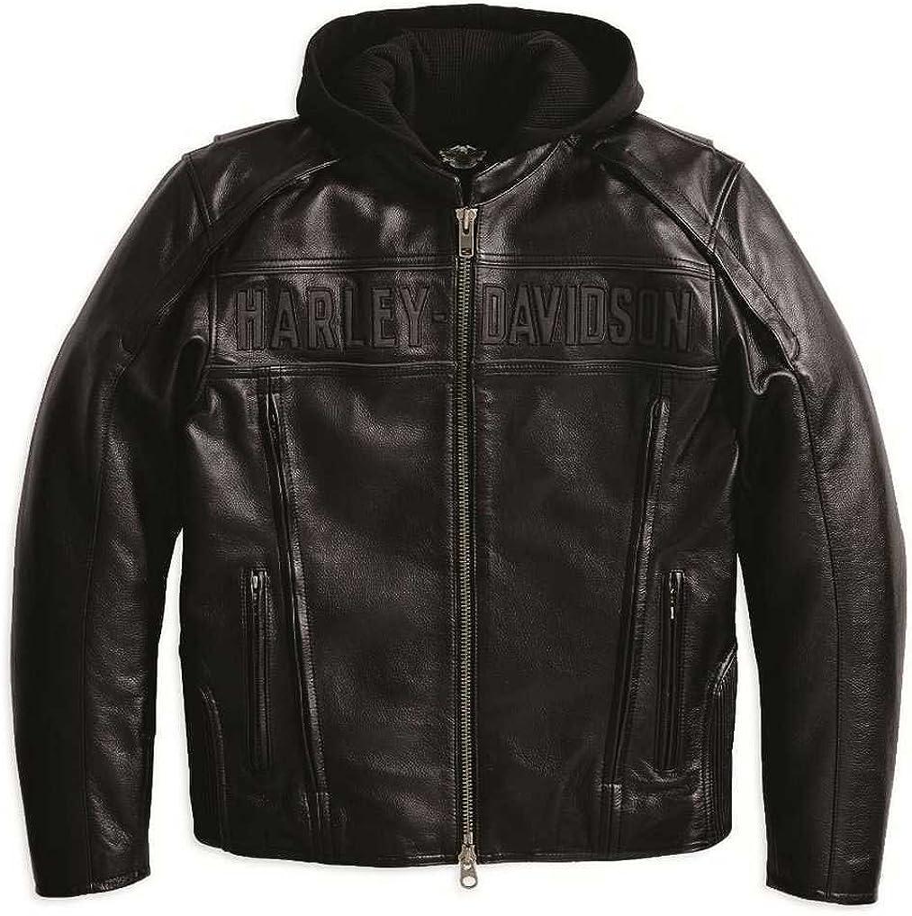 HARLEY-DAVIDSON Mens Reflective Road Warrior 3-in-1 Leather Jacket 98138-09VM