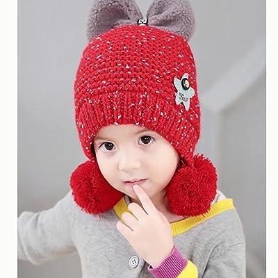 YINGER Garçon Filles Chapeau en tricot Casquette Unisexe Nouveau née De laine Chaud Hiver