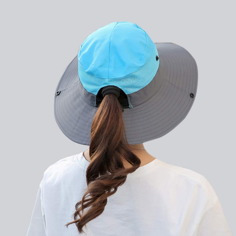 Summer Mesh Wide Brim Sun Hats for Women Breathable Sunhat Outdoor UV Protection Men Bucket Hats Unisex