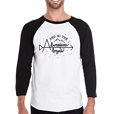 9778b450 365 Printing The Adventure Begins Baseball Shirt for Men Funny Graduation  Gifts
