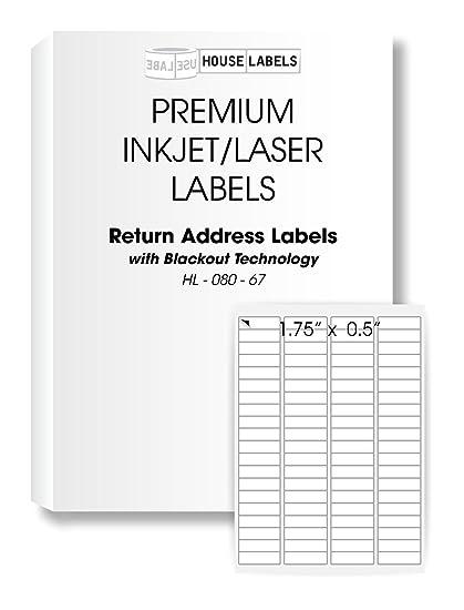 amazon com 25 sheets 2 000 labels blackout technology 80 up