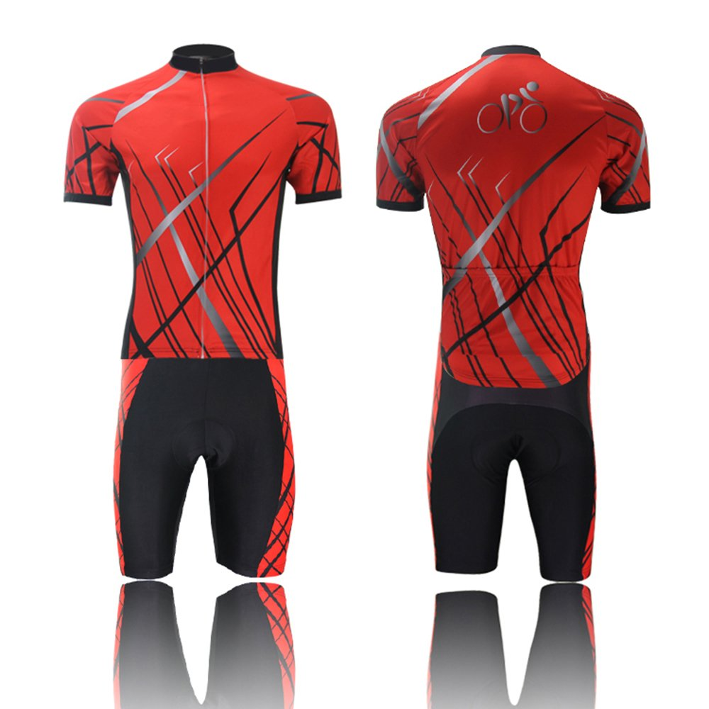 Spoz Men Short Sleeve Cycling Gel Pad Jersey Set