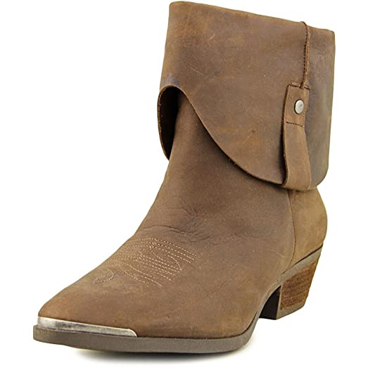 Womens Rafita Leather Closed Toe Ankle Cowboy Boots
