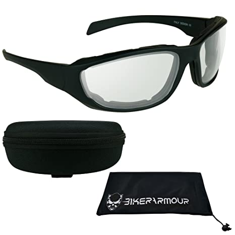 67bf39b4bda Image Unavailable. Image not available for. Color  Transition Motorcycle  Glasses with Photochromic CLEAR to DARK Lens