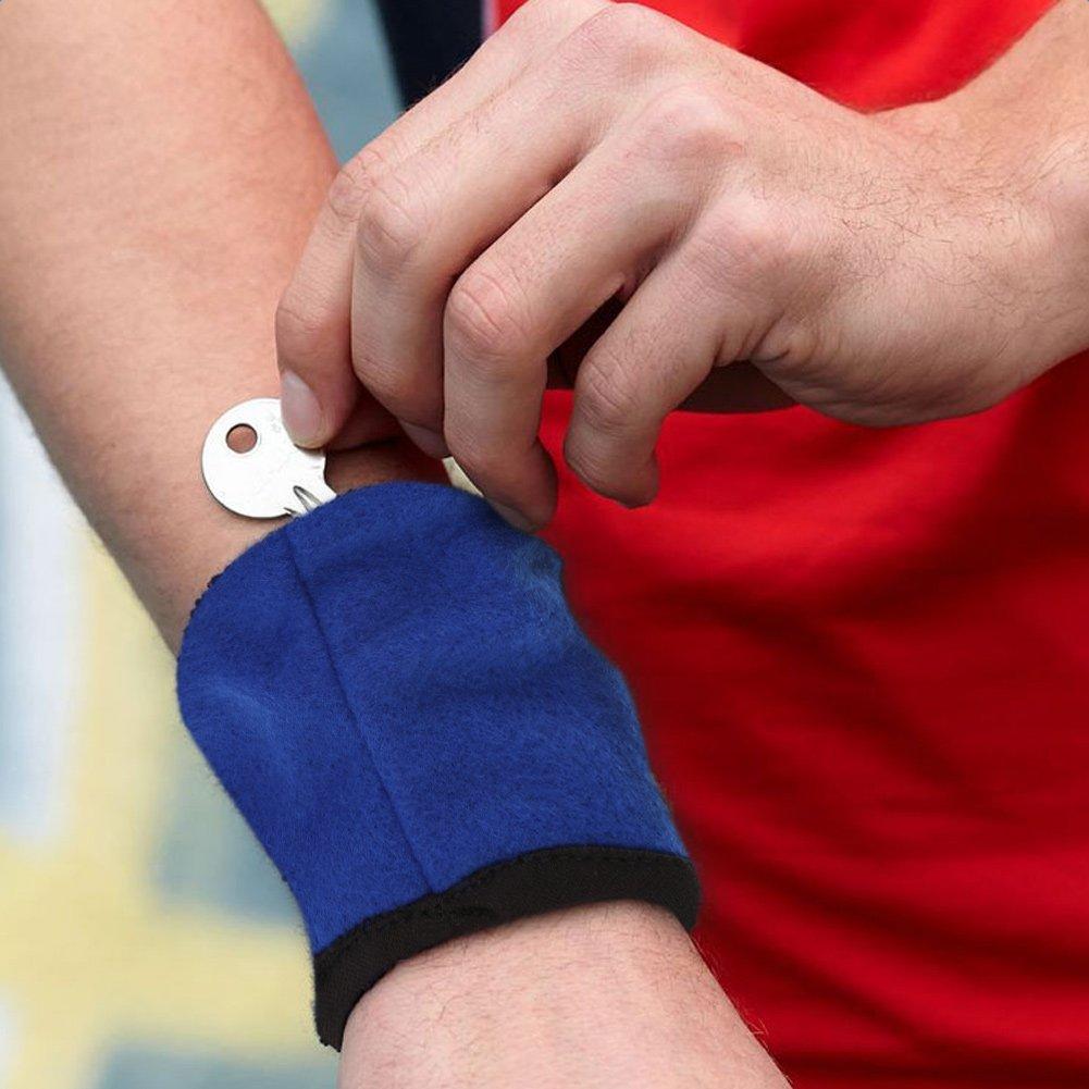 Alomejor Portafoglio da Polso con Cerniera Cinturino per Sudore Sport da Polso Portafoglio Chiave Portamonete Tasca per Corsa Ciclismo