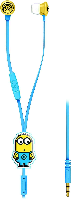 Design Minions 3D Microfono Incluso Lexibook HP006DES Potenza Sonora Limitata Auricolari Stereo Cattivissimo Me Giallo//Blu