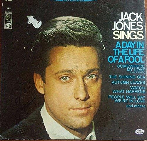 Jack Jones Autographed Album Hand Signed PAAS/COA Jazz Big Band