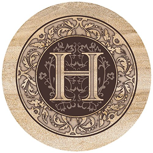 Thirstystone Drink Coaster Set, Monogrammed Letter H