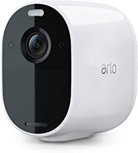 Arlo Essential Spotlight Camera | Wire-Free, 1080p Video | Color Night Vision, 2-Way Audio, 6-Month Battery Life, Motion Activated, Direct to Wi-Fi, No Hub Needed | Works with Alexa | White (Renewed)