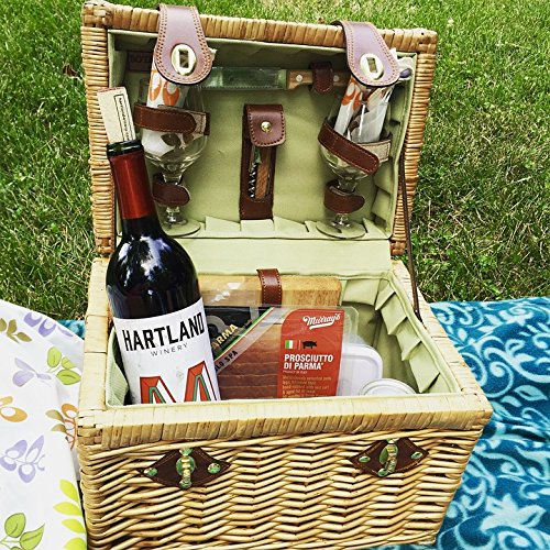 Wine and Cheese Picnic Laminated Poster Print