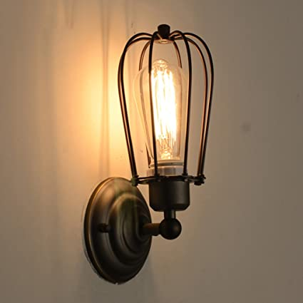 Modeen Lámparas de pared rústicas de la pared de la pared ...
