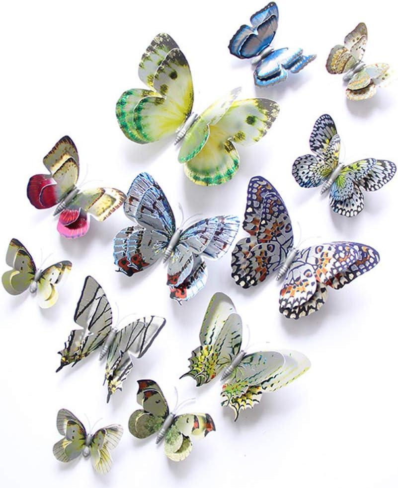 3D Butterfly Wall Stickers Decor ,Butterflies Wall Decals DIY Home Wall Stickers for Wall Decor Home Art Decorations Kids Room Bedroom Decor