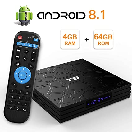 tv box android 8.1 4gb 64 gb 4k  : T9 Android 8.1 TV Box 4GB DDR3 RAM 64GB ROM RK3328 ...