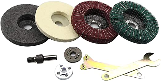 Amazon.com: Maslin Stainless Steel Aluminium Grinding Polishing Kit fit for Drill DIY Angle Grinder Bulgarian Flap Disc