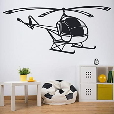 Yaofale Einfache Hubschrauber Flugzeug Transport Wandaufkleber Kinderzimmer Kinderzimmer Vinyl Wandtattoo Wohnzimmer Schlafzimmer Dekoration Amazon De Kuche Haushalt