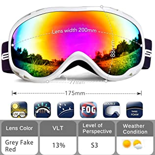 HUBO Sports Snow Ski Goggles