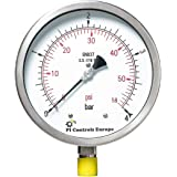 PI Controls UK Pressure Gauge, PG-150-R4-WF-SS