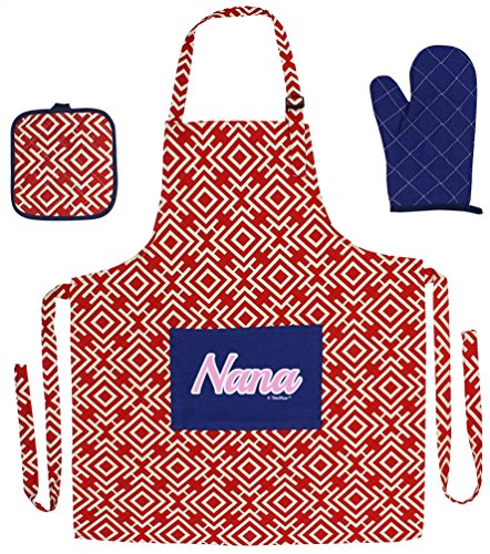 Christmas Script Cooking Aprons 3 piece