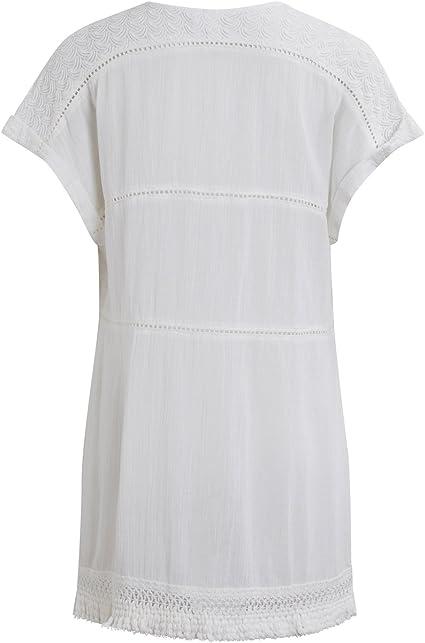 Vila Kaftan ibicenco Blanco Pompones Clothes (S - Blanco): Amazon.es: Ropa y accesorios