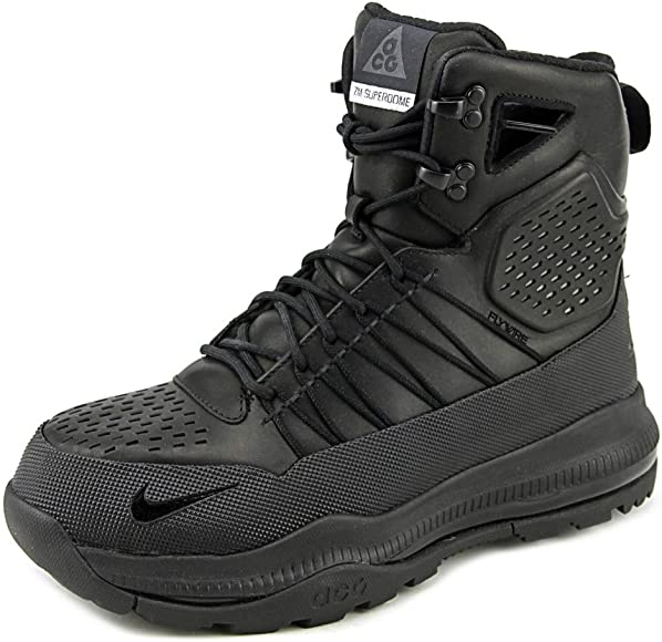 1c853a94838 Nike Mens Zoom Superdome ACG Tactical Leather Boots Black/Black ...