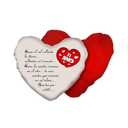 Cojín Corazón Texto Español poema gracias por exsistir San ...