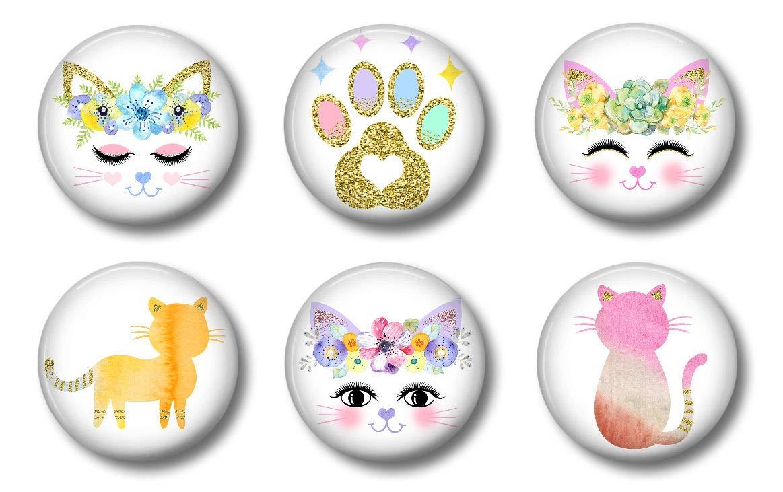 Cat Magnets - Cute Whiteboard Magnets for Locker, Office or Fridge