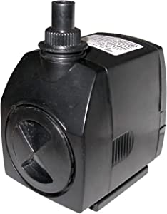 Alpine Corporation PAD400 Stream Pump Outdoor Decor Accessory-for Large Fountains and Bird Baths, 5-Inch, Black