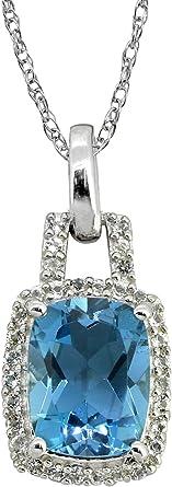 YoTreasure 2 Larimar Rough Blue Topaz Solid 925 Sterling Silver Chain Pendant
