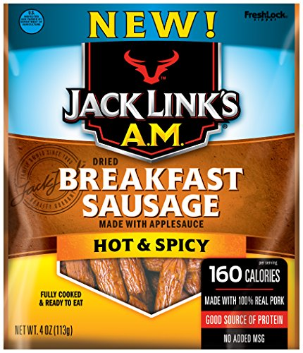 k's A.M. Breakfast Sausage, Hot & Spicy, 4 Ounce (Sausage 4 Links)
