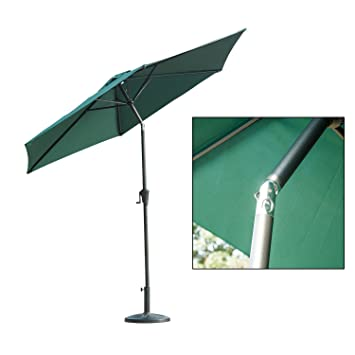 Outsunny 2.7m Patio Garden Umbrella Outdoor Parasol With Crank And 38mm  Aluminum Tilt Pole (