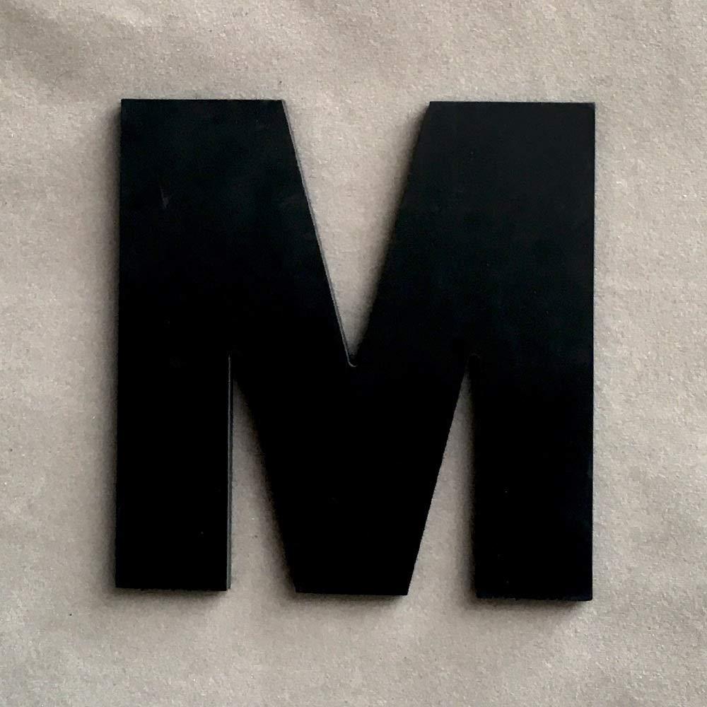 decoraci/ón de la boda de PVC Negro may/úsculas del alfabeto Ingl/és interior pared del jard/ín de Protecci/ón Ambiental del alfabeto Cartas Color : F