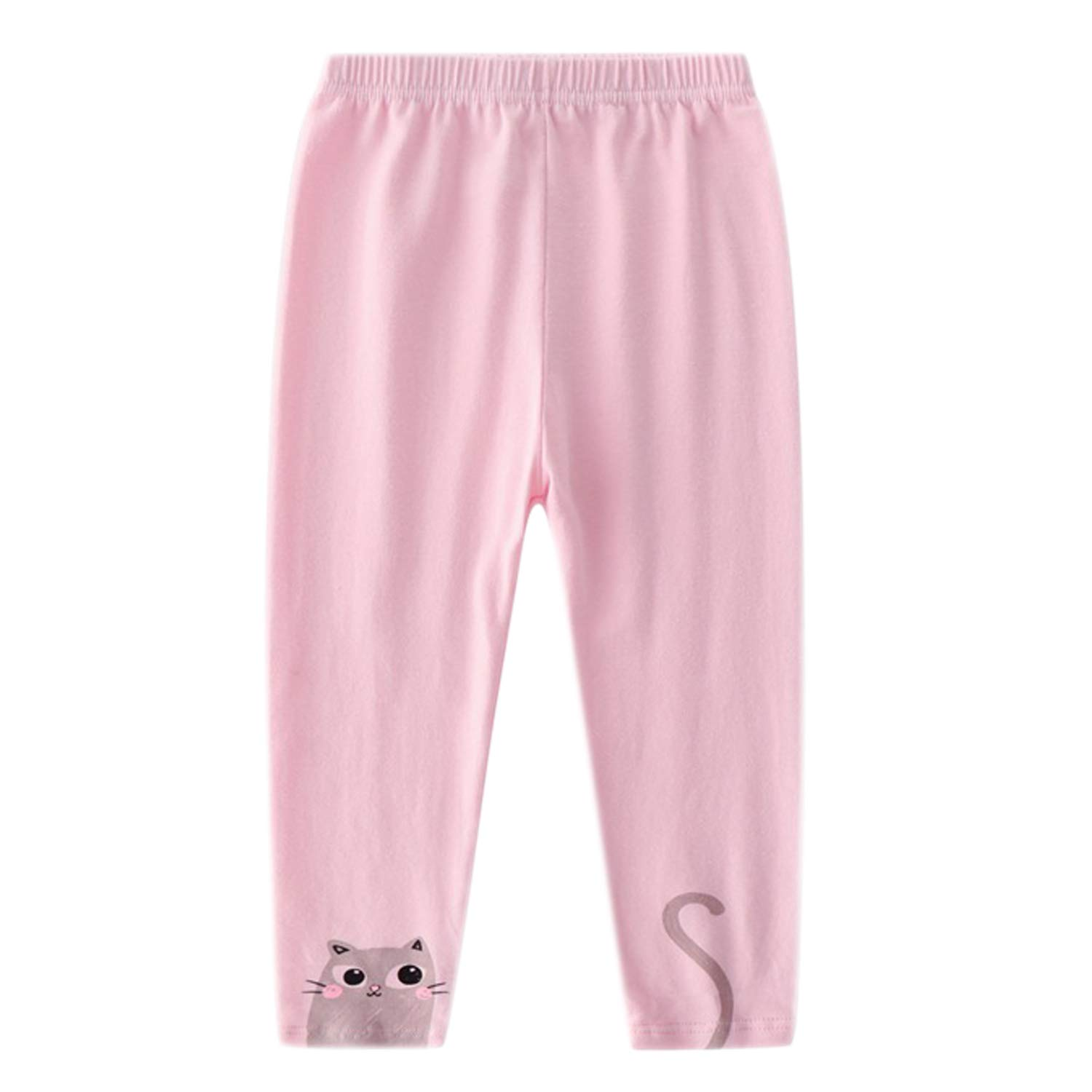 Evelin LEE 4 Packs Baby Girls Cotton Stretchy Tapered Pants Cute Skinny Pajamas Leggings by Evelin LEE (Image #5)