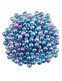 MagiDeal 400Pcs 4mm Colored Imitation Pearl ABS Plastic DIY Findings Loose Beads for Jewelry Making Handcrafts