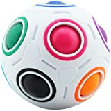Coolzon Magic Ball Puzzle Cube Pop Rainbow Speedcube Educational Toy for Kids and Adults Speed Cubes