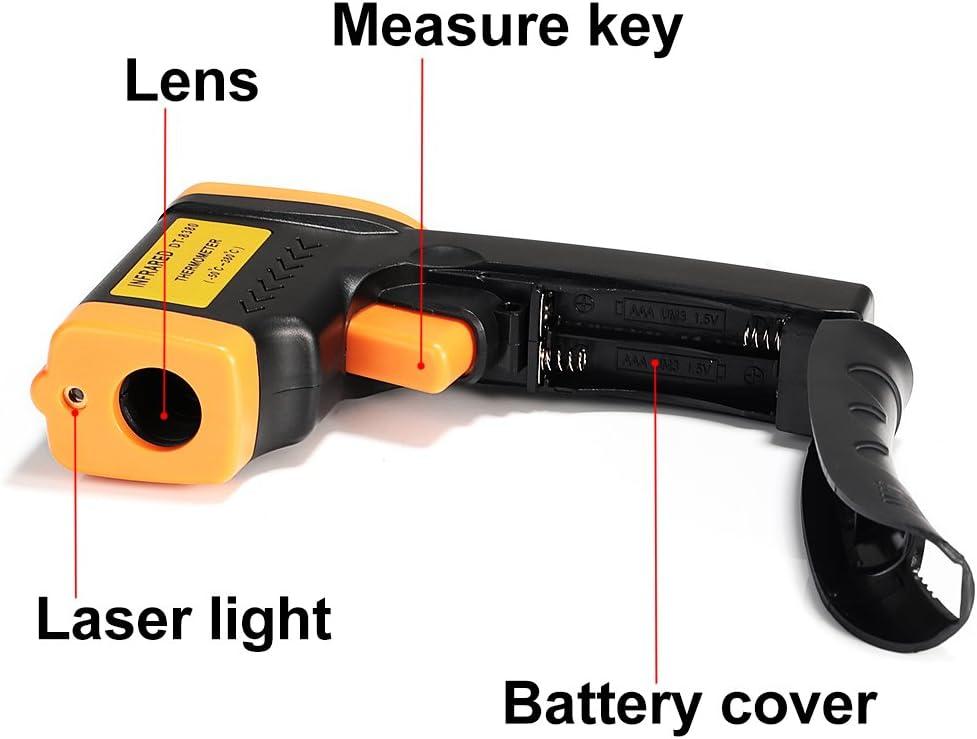 Benkeg Thermom/ètre num/érique Mesure de temp/érature infrarouge sans contact avec r/étro-/éclairage