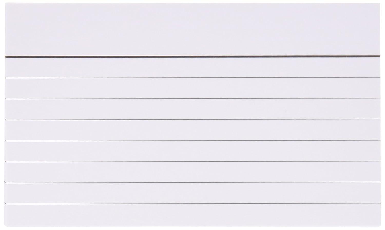 Mariola 3112R - Paquete de 100 fichas rayadas, 125 x 75 mm