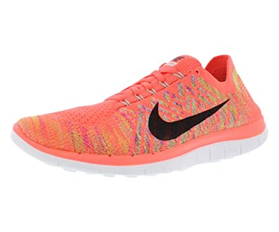 sneakers for cheap 5b8fd bb60e ... Nike Free 4.0 Flyknit Women s Running Shoes, 5, Hot Lava ...