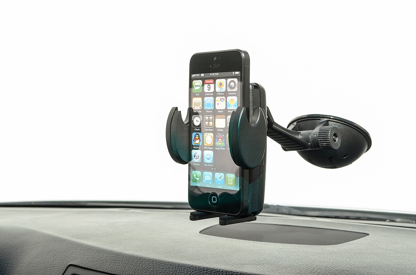 Arkon Windshield or Dash Car Phone Holder Mount for iPhone 7 6S 6 Plus 7 6S 6 Galaxy Note Retail Black SM478