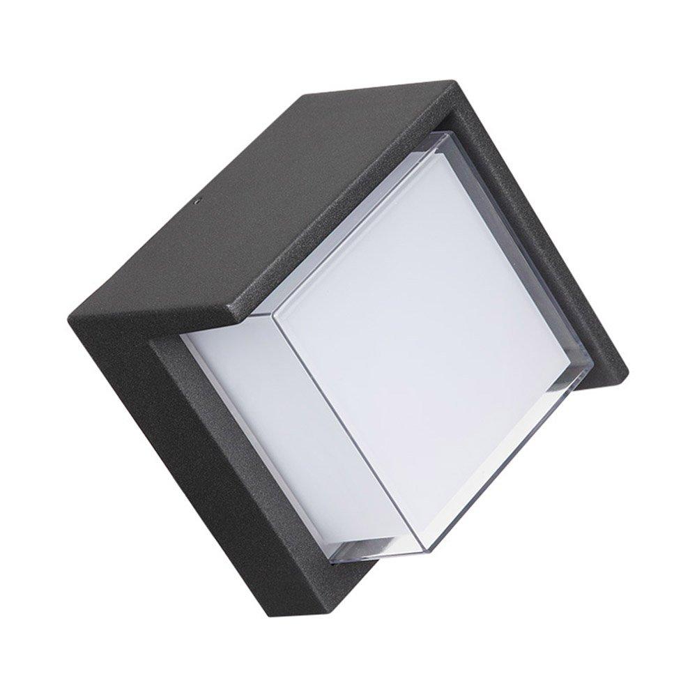 現代のミニマリストクリエイティブテラス屋外バルコニー防水LEDライトスーパーブライトホームガーデンヴィラの壁ランプ B07RJ91PDJ
