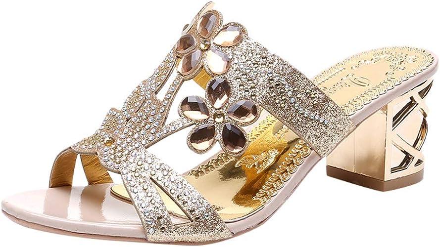 WINJIN Sandales Femme Chaussures Femme Simples Sandales en Cuir Talon Femme 39 Noir Pantoufle Femmes Ete Wedge Sandals Sandales Talons Kaki Femme