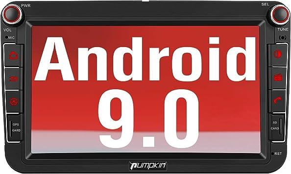 Pumpkin Android 9.0 Autoradio para VW con Dab + Incorporado, Coche ...