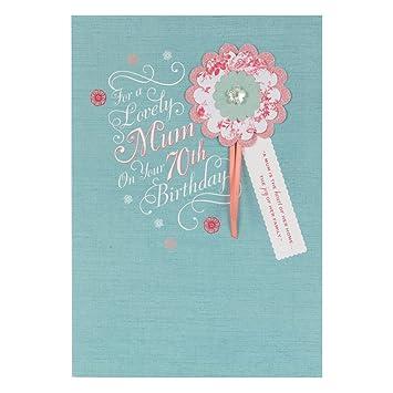 Hallmark 70th Birthday Card For Mum Heart Of The Home Medium