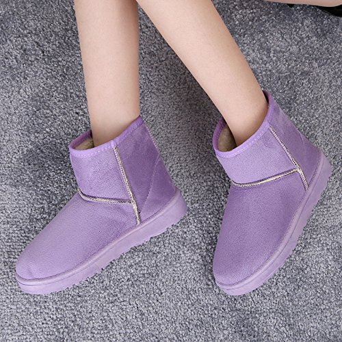 Warm Purple Women Boots Boots Purple Warm Women Warm RqcRFHwr