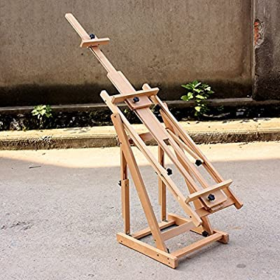 Easels Floor-standing Large-scale W14 Oil Painting Display Stand Can Be Placed 196cm Picture Frame Level Vertical Dual Use