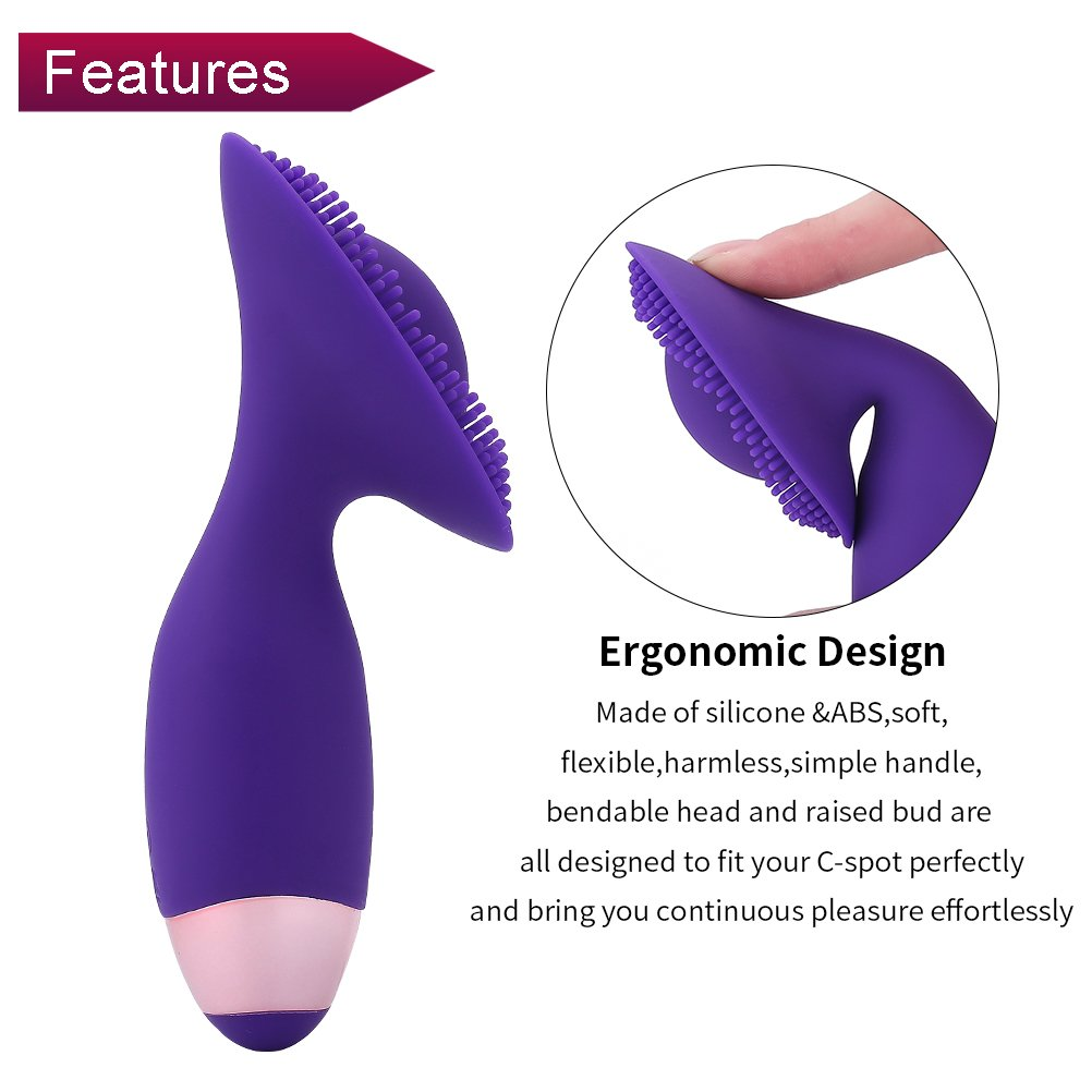 Clitoral Stimulation Vibrator 10X Rechargeable Silicone Vibrator for Women Lip Lick Nipple Tongue Sucking Clitoris Stimulator Sex Toys Women Flirt Brush Waterproof Vibrator (Purple)