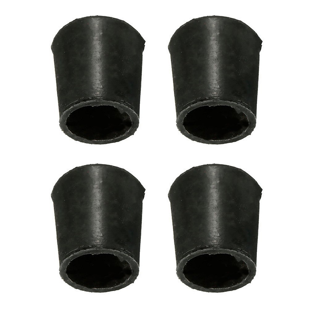 Rubber Chair Floor Protector Ferrule Cap End Tip - Black, Pack of 4(16mm)