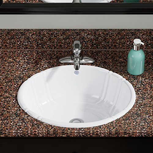 O1815-White Overmount Porcelain Bathroom Sink, Sink Only