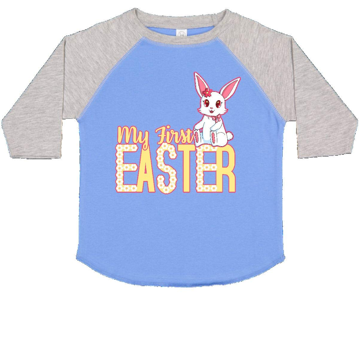 inktastic My First Easter with Bunny and Daisies Yellow Toddler T-Shirt
